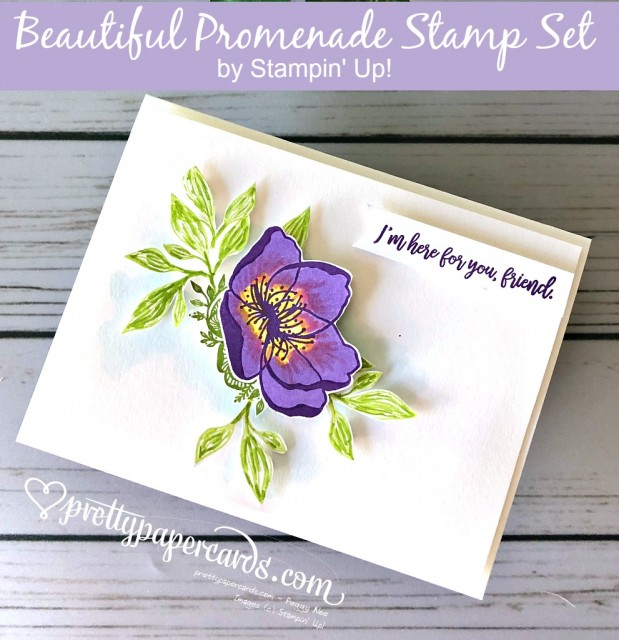 Stampin' Up! Beautiful Promenade flower - Peggy Noe - stampinup