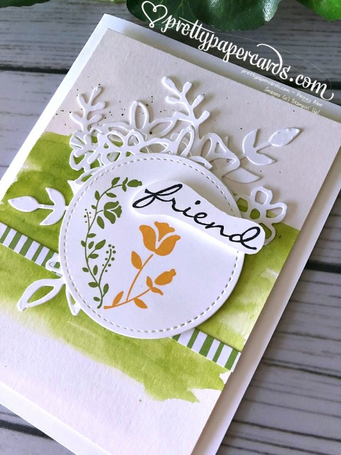 Stampin' Up! Botanical Bliss friend card - Peggy Noe - stampinup