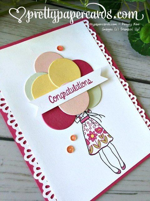 Stampin' Up! Hand Delivered Congratulations - Peggy Noe - stampinup