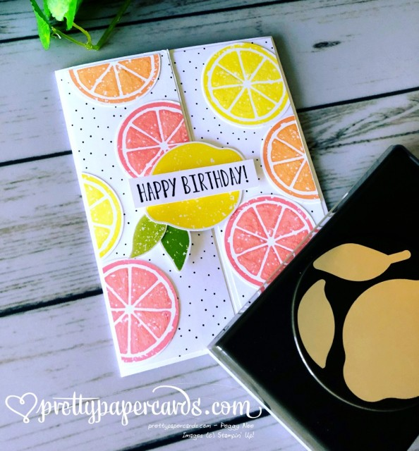 Stampin' Up! Lemon Zest Birthday - Peggy Noe - stampinup