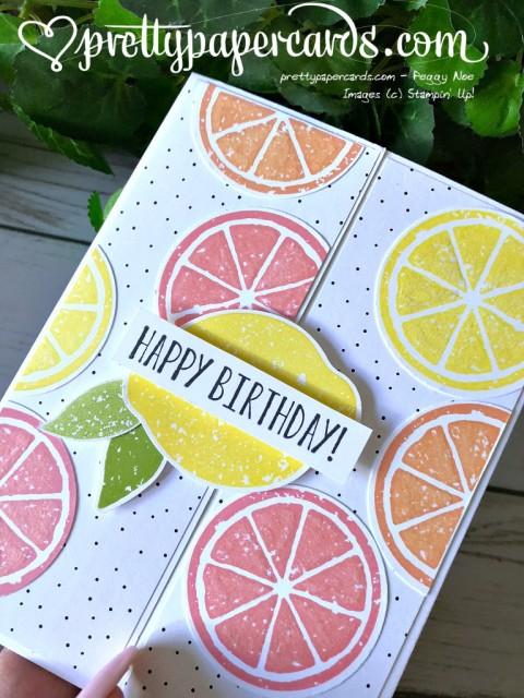 Stampin' Up! Lemon Zest Card - Peggy Noe - stampinup