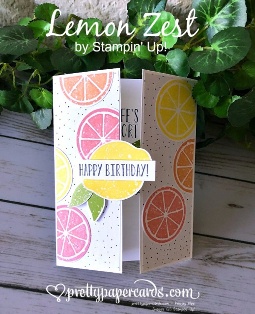 Stampin' Up! Lemon Zest Card - Prettypapercarrds - stampinup