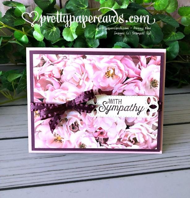 Stampin' Up! Petal Promenade Sympathy Card - Prettypapercards - stampinup
