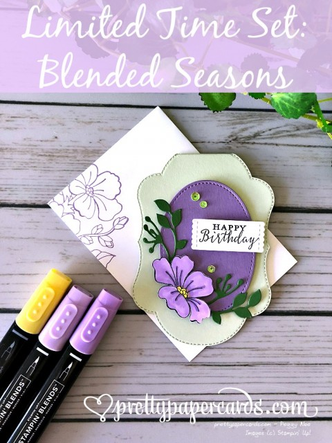 Stampin' Up! Purple Blended Seasons - Peggy Noe - stampinup