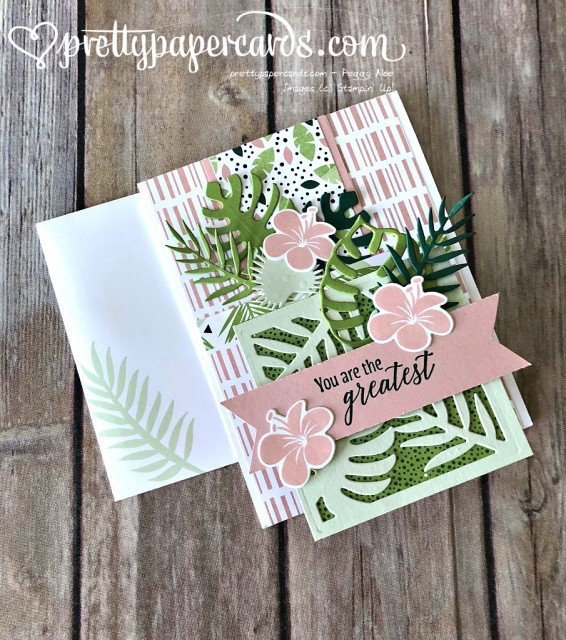 Stampin' Up! Tropical Chic Fancy Fold - Prettypapercards - stampinup