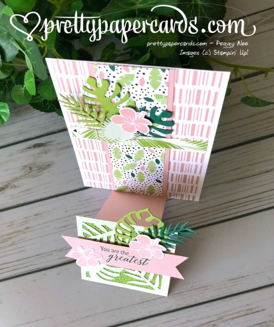 Stampin' Up! Tropical Chic Step Card - Peggy Noe - stampinup