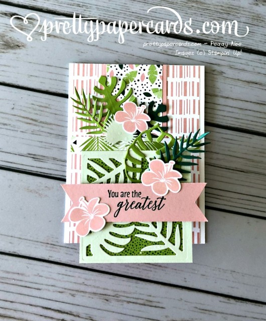 Stampin' Up! Tropical Chic Step Card - Prettypapercards - stampinup