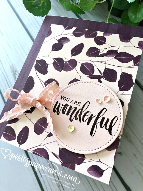 Stampin' Up! You Are Wonderful - Peggy Noe - stampinup