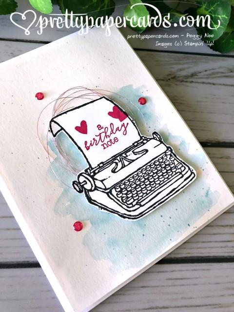 Stampin' Up! Birthday Typewriter - Peggy Noe - stampinup