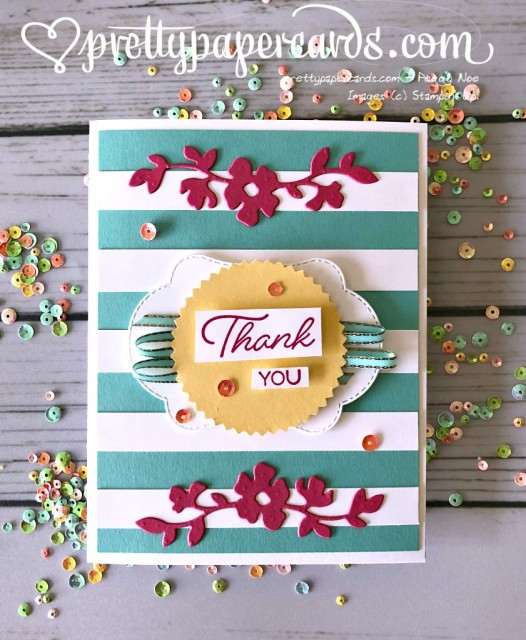 Stampin' Up! Blended Seasons Thank You - prettypapercards - stampinup