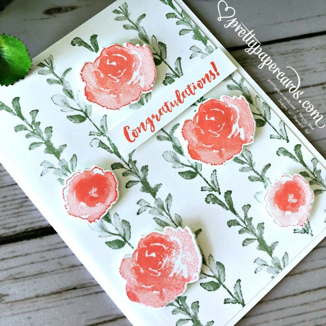 Stampin' Up! First Frost Congratulations - Peggy Noe - stampinup