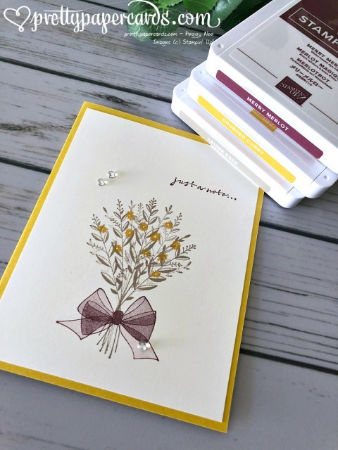 Stampin' Up! Just a Note Card - Peggy Noe - stampinup