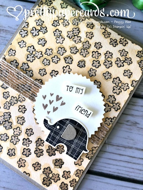 Stampin' Up! Little Elephant Card - Peggy Noe - stampinup