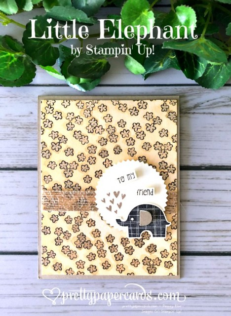 Stampin' Up! Little Elephant Card - Prettypapercards - stampinup