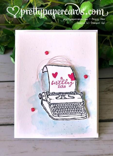 Stampin' Up! Typewriter - Peggy Noe - stampinup