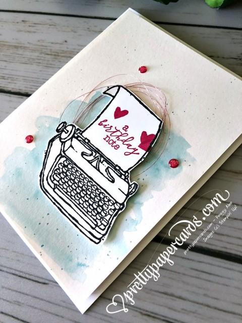 Stampin' Up! Typewriter - Prettypapercards - stampinup