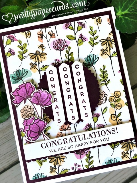 Stampin' Up! Vertical Greetings - Peggy Noe - stampinup