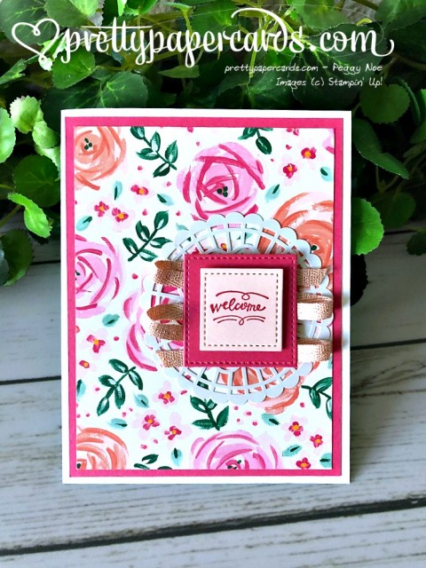 Stampin' Up! Welcome Card - Peggy Noe - stampinup