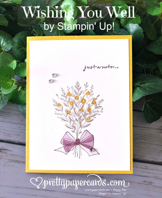 Stampin' Up! Wishing You Well Card - Prettypapercards - stampinup