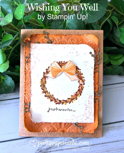 Stampin' Up! Wishing You Well Wreath - Peggy Noe - stampinup