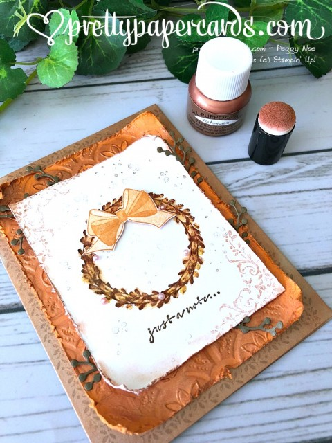 Stampin' Up! Wishing You Well Wreath - Prettypapercards - stampinup