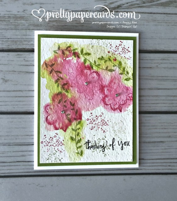 Stampin' Up! Botanical Bliss Watercolor - Prettypapercards - stampinup