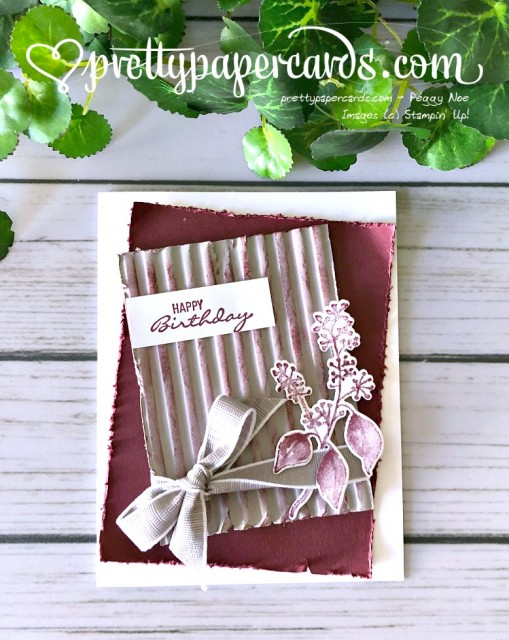 Stampin' Up! Corrugated Birthday - Peggy Noe - stampinup