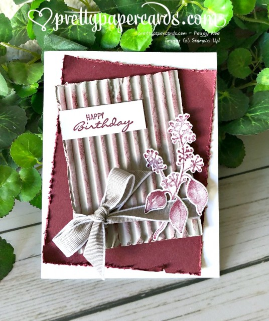 Stampin' Up! Corrugated Embossing - Peggy Noe - stampinup