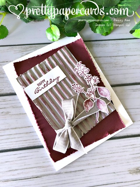 Stampin' Up! Corrugated Embossing - prettypapercards - stampinup