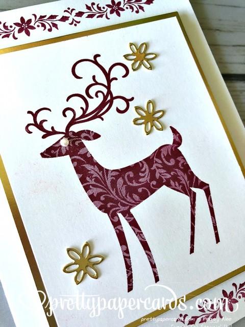 Stampin' Up! Dashing Deer Card - Peggy Noe - stampinup