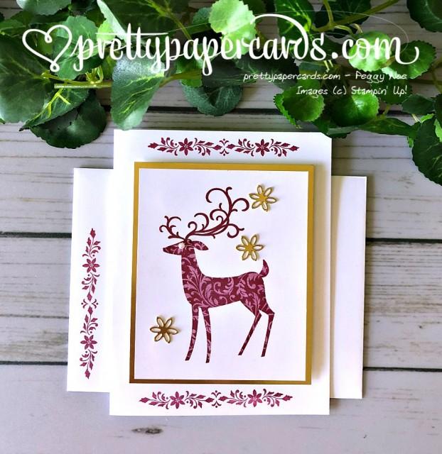 Stampin' Up! Dashing Deer Card - Prettypapercards - stampinup