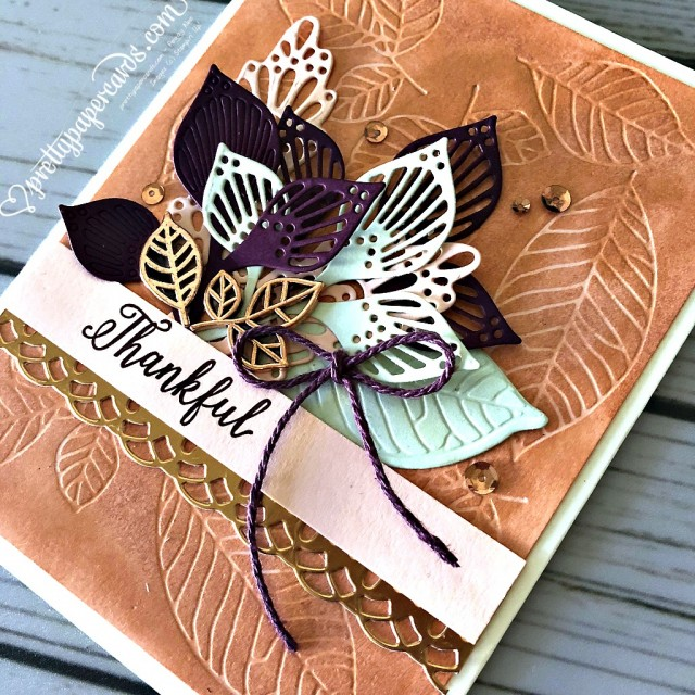 Stampin' Up! Detailed Leaves - Peggy Noe - stampinup