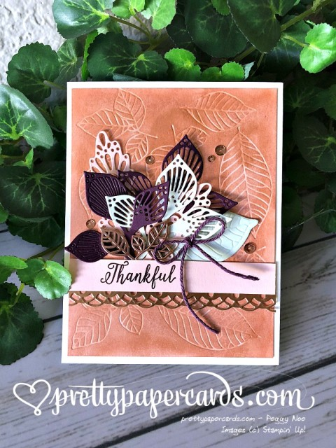 Stampin' Up! Detailed Leaves - Prettypapercards - stampinup