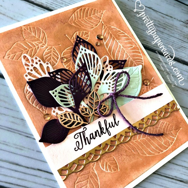 Stampin' Up! Fall Leaf Card - Peggy Noe - stampinup