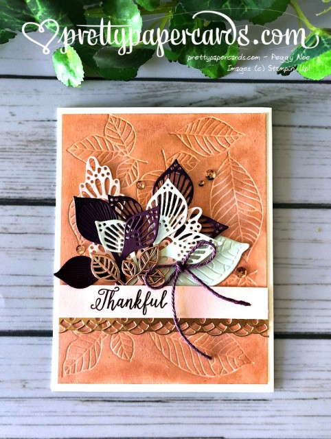 Stampin' Up! Fall Leaf Card - Prettypapercards - stampinup
