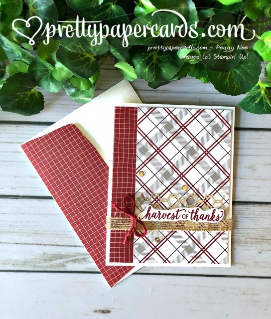 Stampin' Up! Falling for Leaves card - Peggy Noe - stampinup