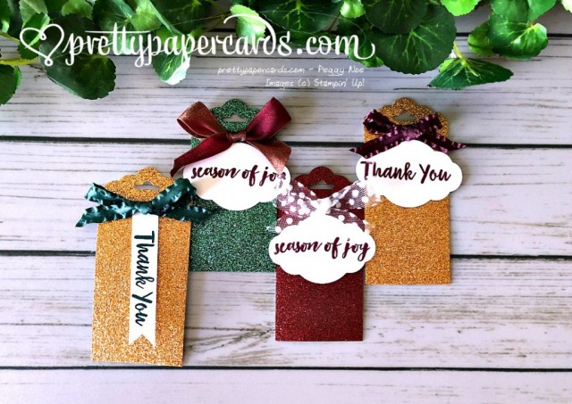 Stampin' Up! Glimmer Tags - Prettypapercards - stampinup