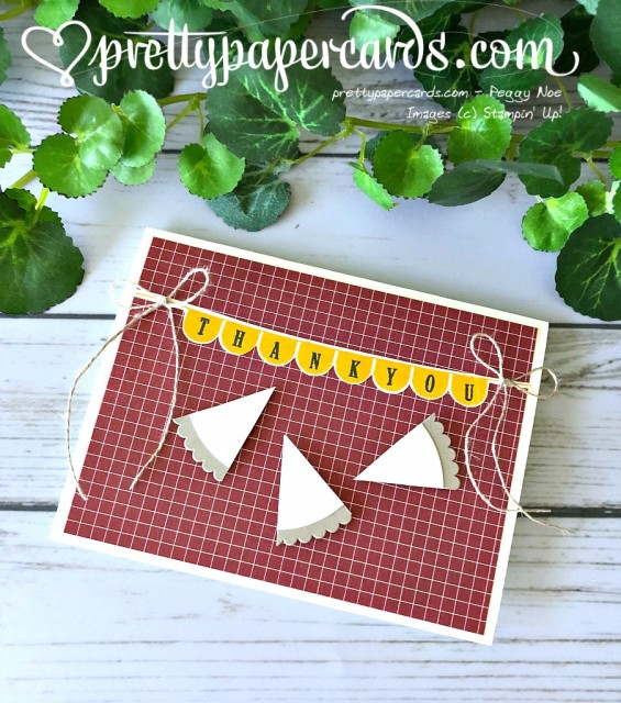 Stampin' Up! Pick A Pennant - Peggy Noe- stampinup