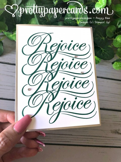 Stampin' Up! Rejoice Christmas Card - Prettypapercards - stampinup