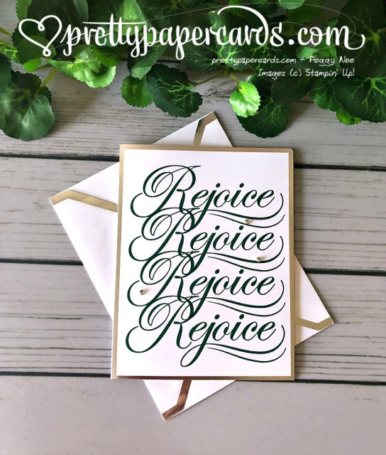 Stampin' Up! Rejoice Christmas card - Peggy Noe - stampinup