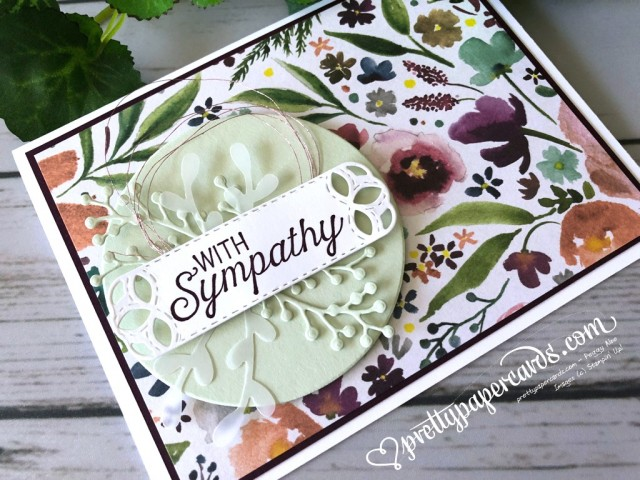 Stampin' Up! Sympathy Card - Peggy Noe - stampinup