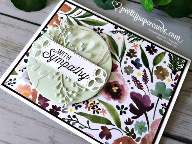 Stampin' Up! Sympathy Card - Prettypapercards - stampinup