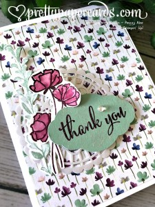 Stampin' Up! Thank You Card - Peggy Noe - stampinup