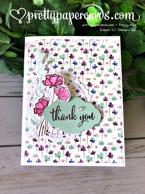 Stampin' Up! Thank You Card - Prettypapercards - stampinup