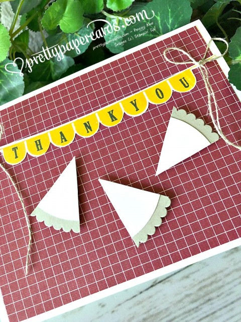 Stampin' Up! Thank You Pie - Peggy Noe - stampinup