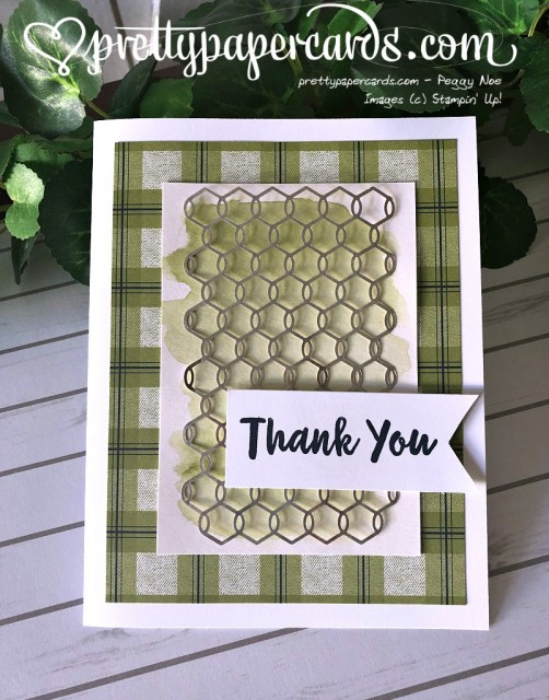 Stampin' Up! Abstract Impressions Thank You - Prettypapercards - stampinup