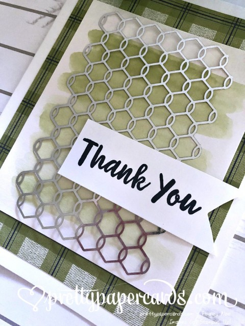 Stampin' Up! Chicken Wire Thank You - Prettypapercards - stampinup