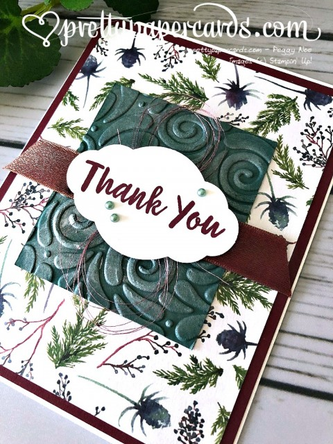 Stampin' Up! Christmas Thank You - Prettypapercards - stampinup