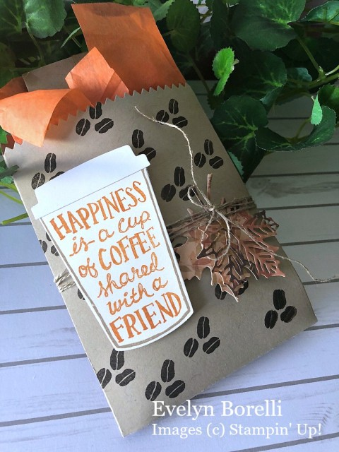 Stampin' Up! Coffee Cafe Treat Bag - Peggy Noe - stampinup