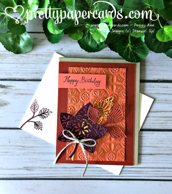 Stampin' Up! Falling for Leaves Bronze - Peggy Noe - stampinup